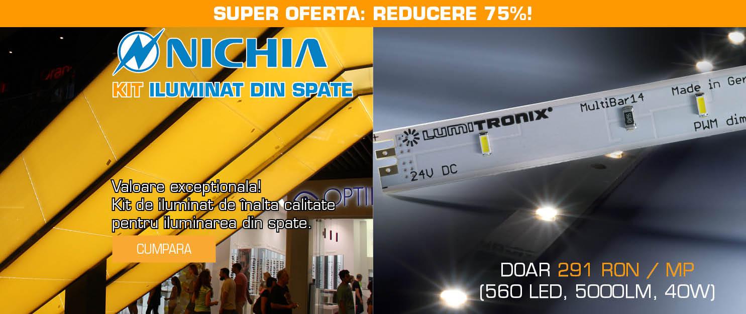 Valoare excepțională! Kit de iluminat de înaltă calitate pentru iluminarea din spate a unui metru pătrat de tavan extensibil luminos (Barrisol)