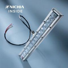Banda LED Dezinfectare Nichia Violet UVC 280nm 12x LED-uri NCSU334B 630mW 29cm 48VDC in carcasa cu lentile si controler