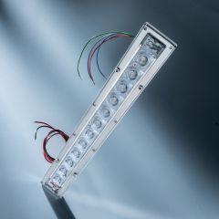 Banda LED Dezinfectare Seoul Viosys UVC 275nm 12 LED-uri total 192mW 29cm 600mA in carcasa cu lentile
