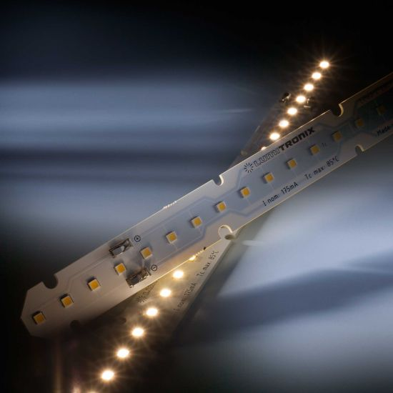 Banda Profesionala LinearZ 26 Zhaga alb cald 3000K 1060lm 175mA 37.5V 26 LED-uri Nichia Japonia modul 28cm (3786lm/m si 24W/m)