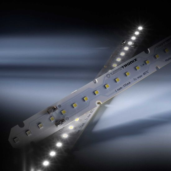 Banda Profesionala LinearZ 26 Zhaga alb rece 6500K 1130lm 175mA 37.5V 26 LED-uri Nichia Japonia modul 28cm (4036lm/m si 24W/m)