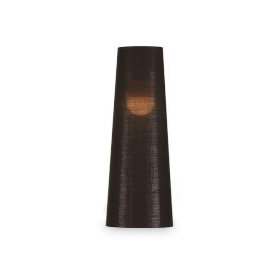 Abajur SLV Fenda conic, D/H 15/40 cm negru-cupru