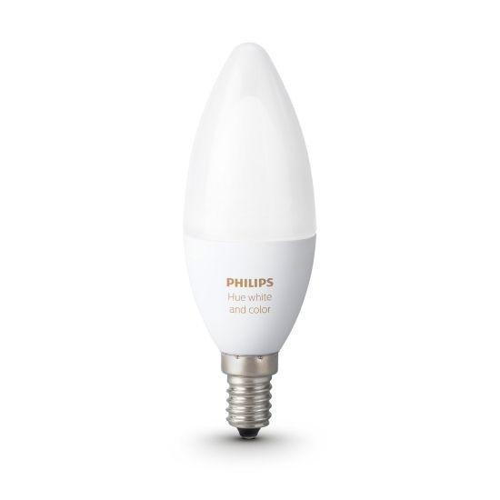 Bec LED PHILIPS Hue Wifi E14 RGB si Alb Ajustabil 2200-6500K 6.5W 470lm