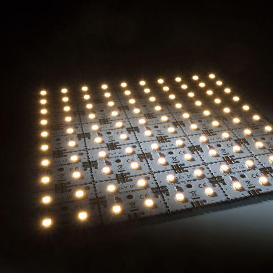Matrice Profesionala LED Matrix mini 24V 25 patrate (5x5) 100 LED-uri Nichia Japonia (1700lm) 2700K alb cald