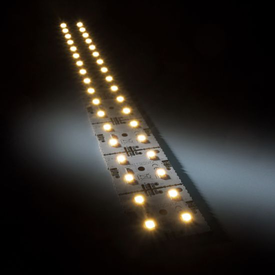 Matrice Profesionala LED Matrix mini 24V 9 patrate (9x1) 36 LED-uri Nichia Japonia (615lm) 2700K alb cald