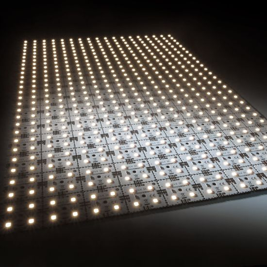 Matrice Profesionala LED Matrix mini 24V 126 patrate (9x14) 504 LED-uri Nichia Japonia (9175lm) 3500K alb cald