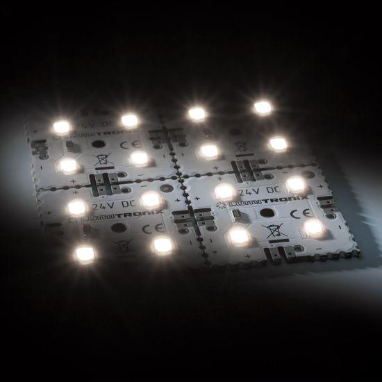 Matrice Profesionala LED Matrix mini 24V 4 patrate (2x2) 16 LED-uri Nichia Japonia (300lm) 4000K alb