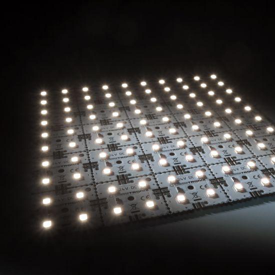 Matrice Profesionala LED Matrix mini 24V 25 patrate(5x5) 100 LED-uri Nichia Japonia (1885lm) 4000K alb