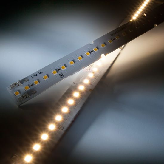 Banda Profesionala Maxline35 alb cald 3000K 1040lm 350mA 35 LED-uri Nichia Japonia modul 28cm (3715lm/m si 25W/m)