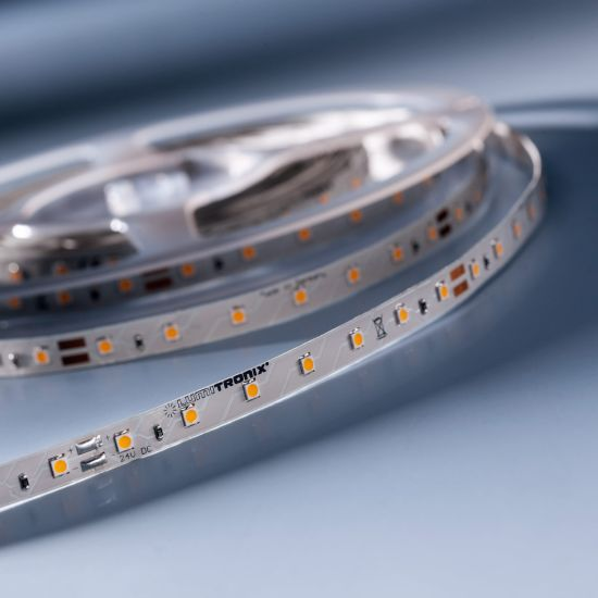 Banda Flexibila Semi-Profesionala LumiFlex350 Economy 350 LED-uri Honglitronic alb cald 2700K 24V rola 5m (390lm/m, 70 LED/m si 4.8W/m)