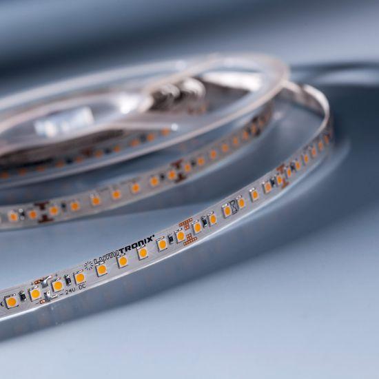 Banda Flexibila Semi-Profesionala LumiFlex700 Economy 700 LED-uri Honglitronic alb cald 2700K 24V rola 5m (780lm/m, 140 LED/m si 9.6W/m)