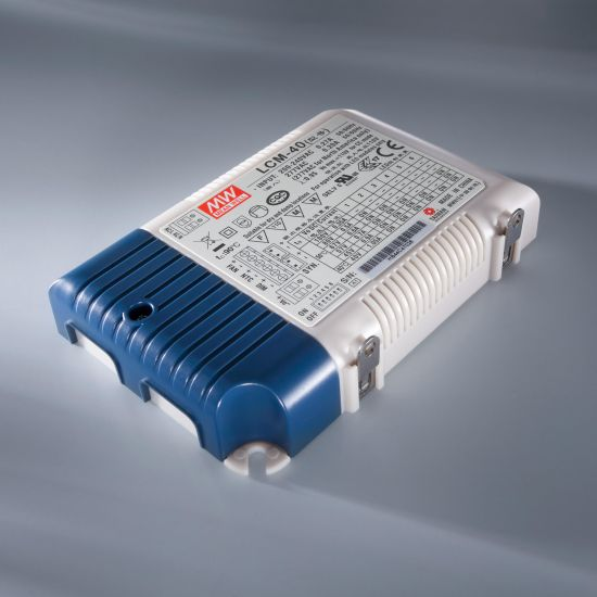 Transformator Driver Profesional de curent constant Mean Well LCM-40 IP20 350 > 1050 mA 230V la 2 > 100VDC DIM