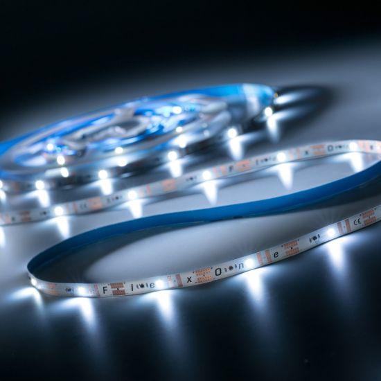 Banda Flexibila Profesionala FlexOne100 Performer 100 LED-uri Samsung alb cald 2700K 12V rola 5m (1218lm/m, 20 LED/m si 16.8W/m)