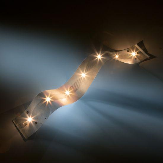 Banda Flexibila Profesionala Paper-Flex Osram LED latime 35 cm max 24.85m lungime alb cald 2700K 24V 1100lm/m 140 LEDs/m 24V (pret pentru UN RAND 5x35cm & 7 LED)