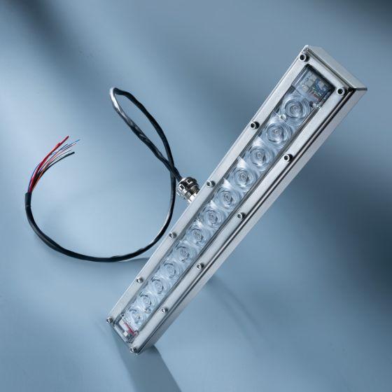 Banda LED Dezinfectare Seoul Viosys UVC 275nm 12 LED-uri total 152mW 29cm 48VDC in carcasa cu lentile si controler