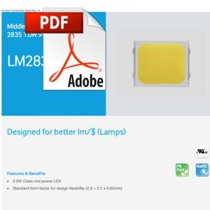Fisa Tehnica LED Samsung