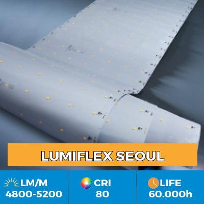Benzi LED profesionale Z-Flex cu LED-uri Seoul Semiconductor, cu 6200 lm pe metru, în versiuni cu un rând de LED-uri sau mai multe