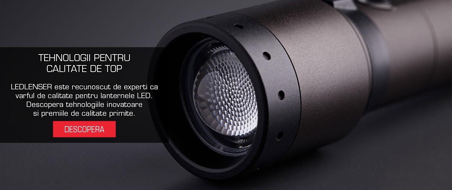 TEHNOLOGII PENTRU  CALITATE DE TOP  LEDLENSER este recunoscut de experti ca varful de calitate pentru lanternele LED.  Descopera tehnologiile inovatoare si premiile de calitate primite.