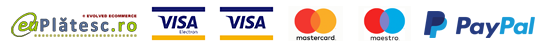 Plata online cu Cardul sau Cont Paypal