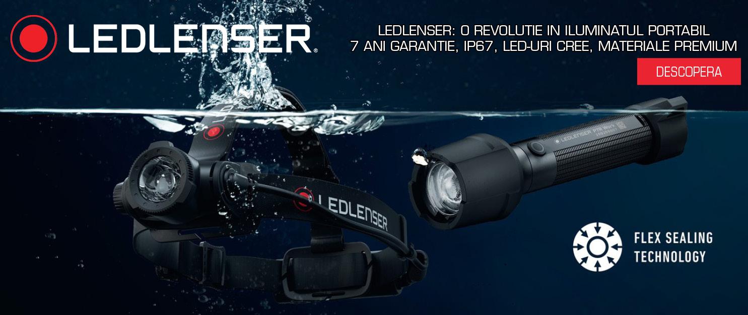 LEDLENSER: O REVOLUTIE IN ILUMINATUL PORTABIL 7 ani garantie, IP67, LED-uri CREE, materiale premium