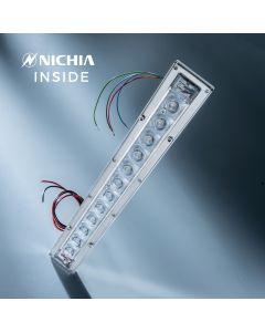 Banda LED Dezinfectare Nichia Violet UVC 280nm 12x LED-uri NCSU334B 882mW 29cm 1050mA in carcasa cu lentile
