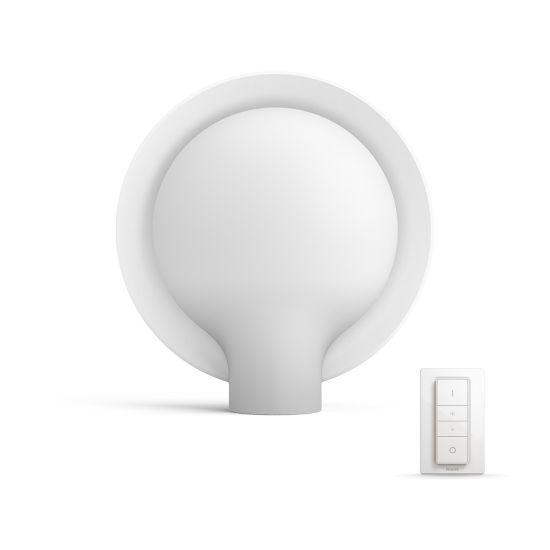 Veioza LED Philips Hue Buckram LED  alb cu buton-dimmer 2200-6500K 806lm