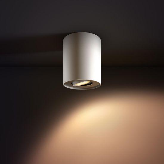 Lampa LED de tavan PHILIPS Wifi Pillar LED 1 Spot Alb 2200-6500K 5.5W 350lm