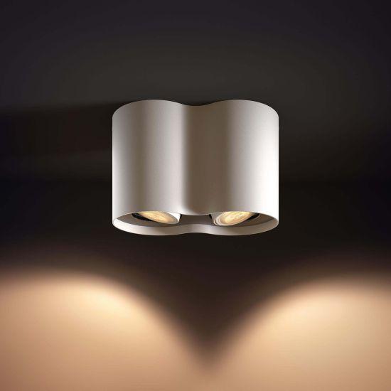 Lampa LED de tavan PHILIPS Wifi Pillar LED 2 Spot Alb 2200-6500K 11W 700lm