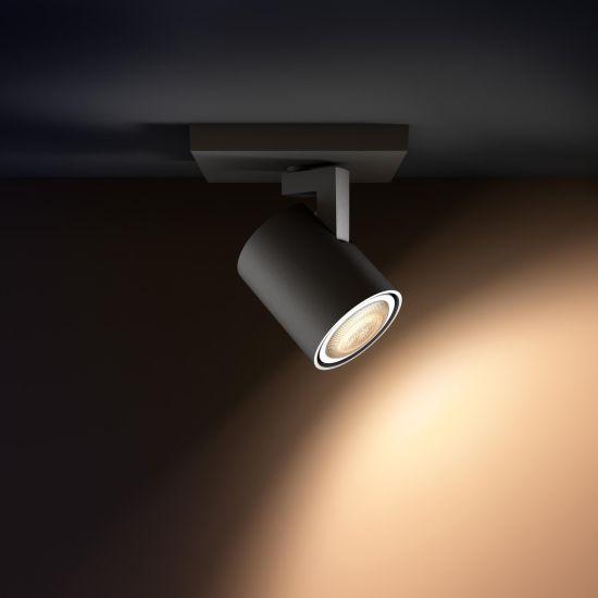 Lampa LED de tavan PHILIPS Wifi Runner LED 1 Spot Extensie Negru 2700-6500K 6W 350lm