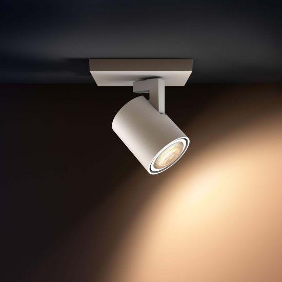 Lampa LED de tavan PHILIPS Wifi Runner LED 1 Spot Alb 2200-6500K 5.5W 250lm