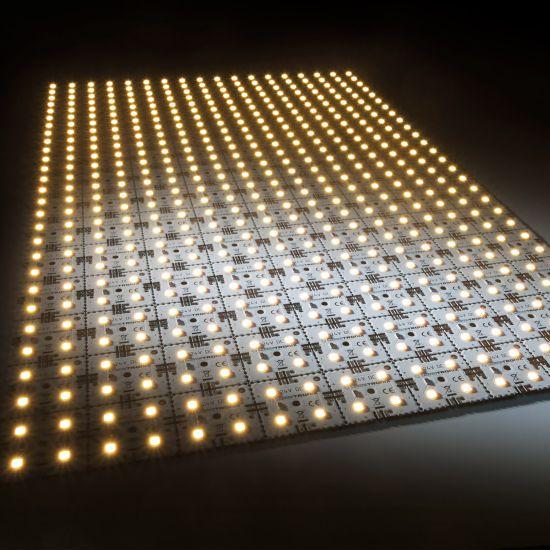 Matrice Profesionala LED Matrix mini 24V 126 patrate (9x14) 504 LED-uri Nichia Japonia (8610lm) 2700K alb cald