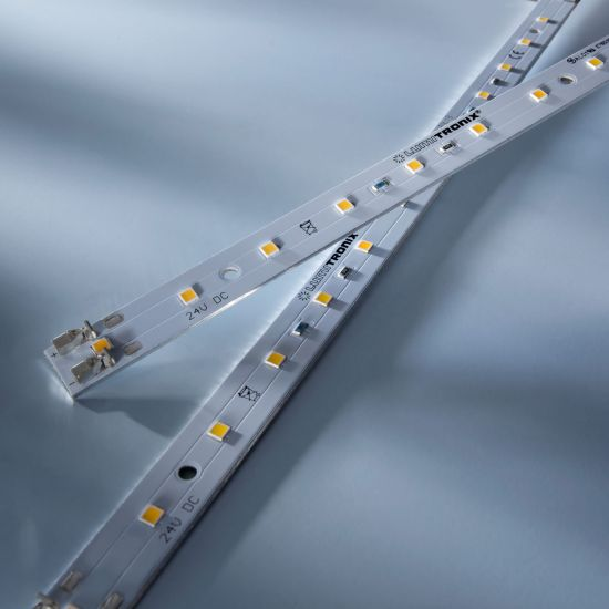 Banda Profesionala Maxline14 alb cald 3000K 810lm 24V 14 LED-uri Nichia Japonia modul 28cm (2893lm/m si 30W/m)