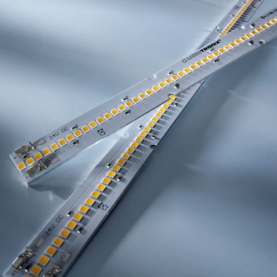 Banda Profesionala Maxline70 alb cald 3000K 2080lm 24V 70 LED-uri Nichia Japonia modul 28cm (7429lm/m si 60W/m)