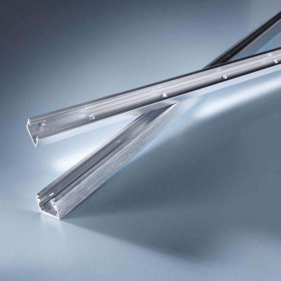 Profil de aluminiu Alubar pentru Benzi LED Multibar 50cm Cromat cu gauri pentru prindere cu suruburi