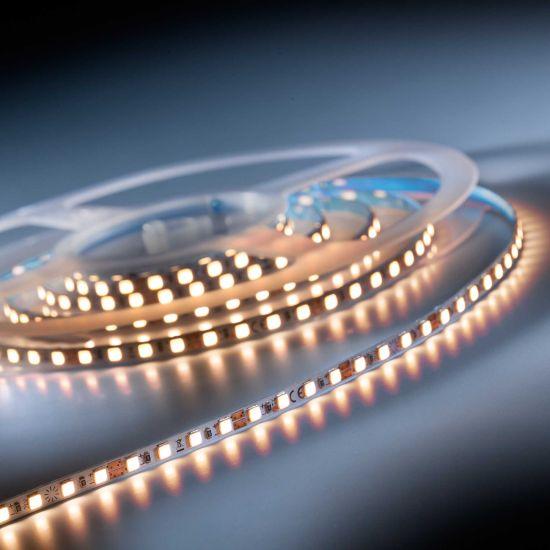 Banda Flexibila Profesionala Slimflex240 Pro 240 LED-uri Nichia Japonia alb cald CRI90 2700K 24V rola 2m (1950lm/m, 120 LED/m)