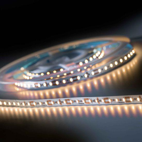Banda Flexibila Semi-Profesionala LumiFlex600 Economy 600 LED-uri Honglitronic alb cald 2700K 12V rola 5m (510lm/m, 120 LED/m si 4.4W/m)