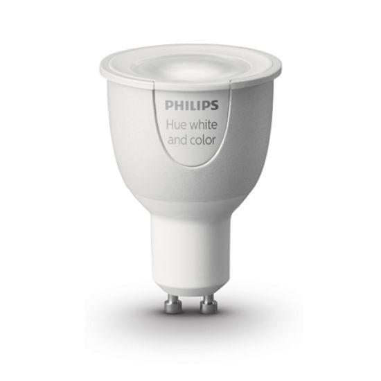 Bec LED PHILIPS Hue Wifi 2.0 Gu10 RGB si Alb Ajustabil 2700-6500K 6.5W 250lm