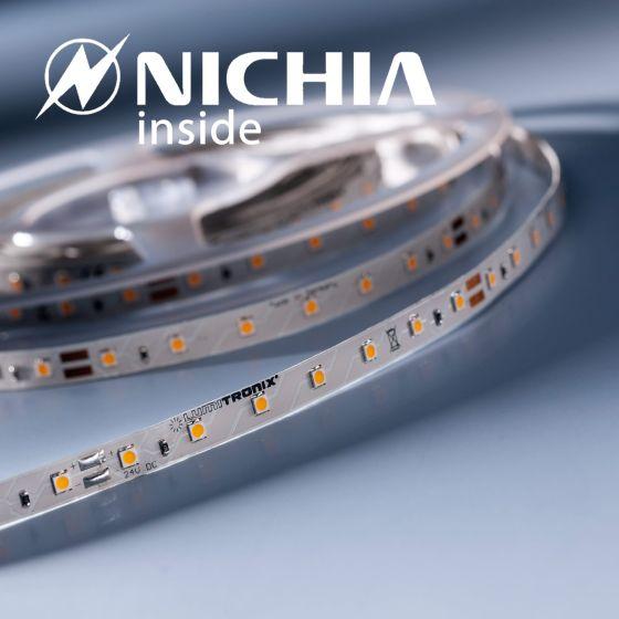 Banda Flexibila Profesionala Lumiflex35 Performer 35 LED-uri Nichia Japonia alb cald 2700K 24V pret pt. 50cm (1220lm/m, 70 LED/m si 9.6W/m)